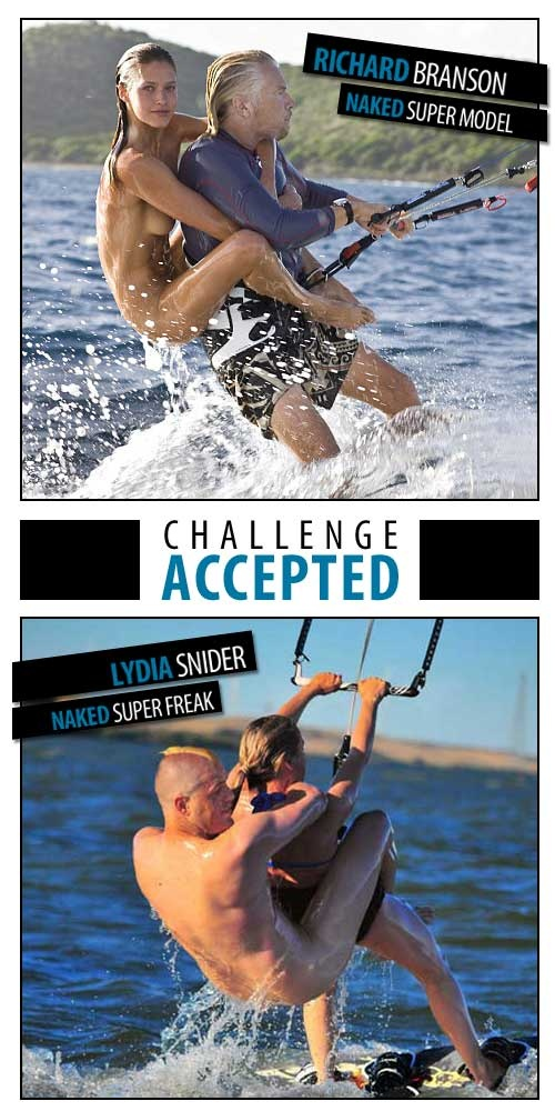 Branson kitesurfing naked model spoof