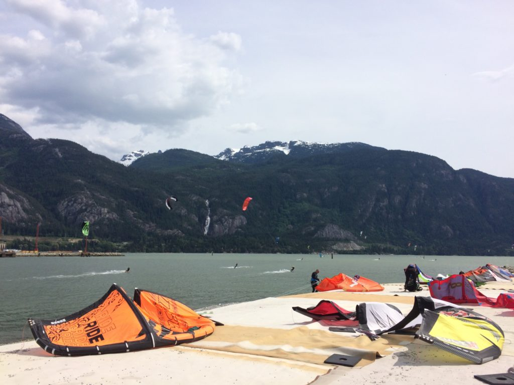Squamish Kiteboarding at the spit